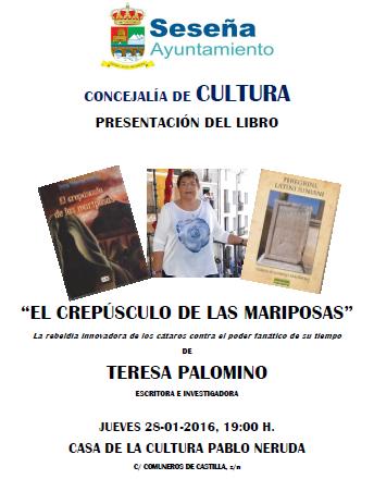 """Ayuntamiento de Seseña: presentación libro """"El crepusculo de las mariposas"""""""