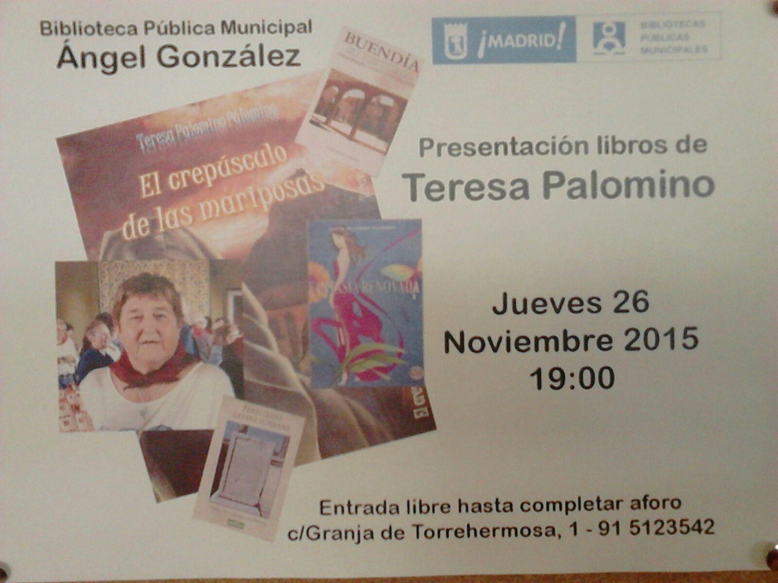 Presentación libros de Teresa Palomino